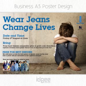 jeans for genes day poster