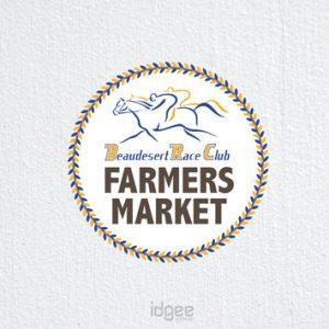 Beaudesert Race Club Farmers Market Logo Design