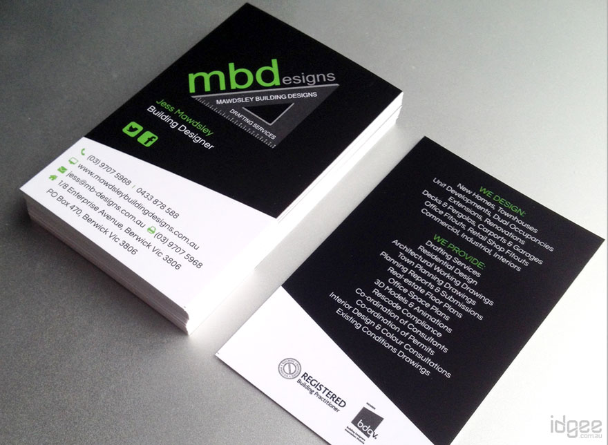 Business cards melbourne idgee designs website design and business cards melbourne reheart Choice Image