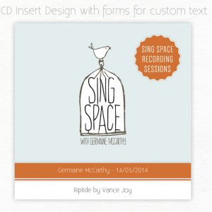 CD insert design for Sing Space
