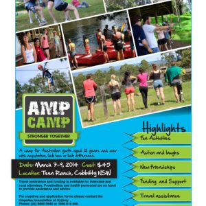 AMP CAMP A5 Flyer Design