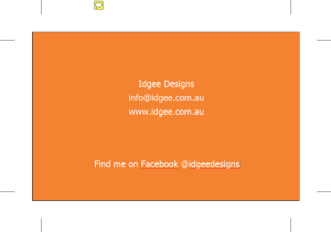 Free Business Card example Back