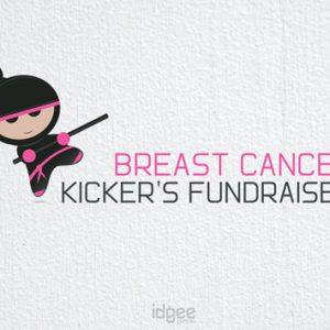 Logo-design-breast-cancer-kickers-fundraiser-Traralgon