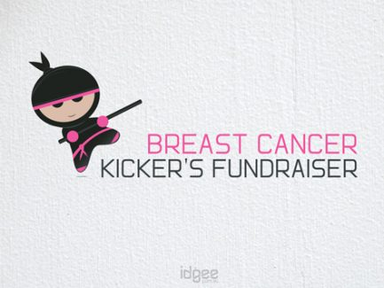 Logo-design-breast-cancer-kickers-fundraiser-Traralgon