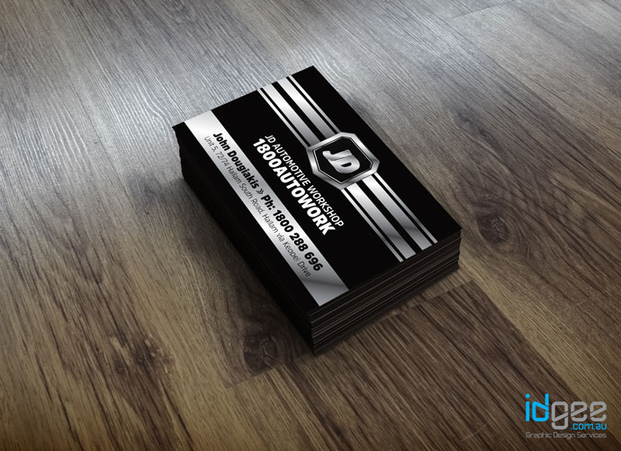 Business Card Design Hallam, JD Automotive Workshop