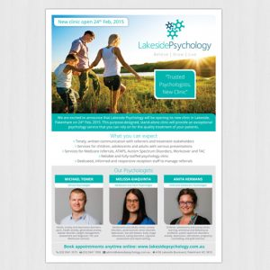 Lakeside-Psychology-Pakenham-A4-Flyer-Design