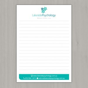 Notepad-Design-For-Lakeside-Psychology-Pakenham