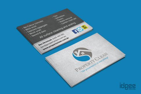Property Clean Business Cards Berwick