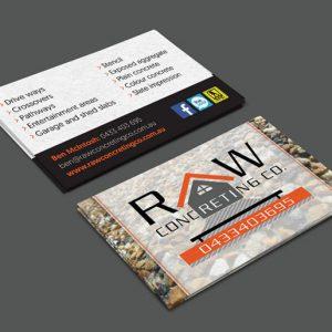 RAW Concreting Business Cards Berwick
