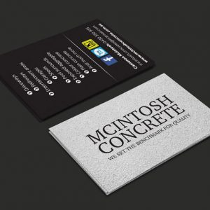 Macintosh Concrete - Business Card Design Narre Warren