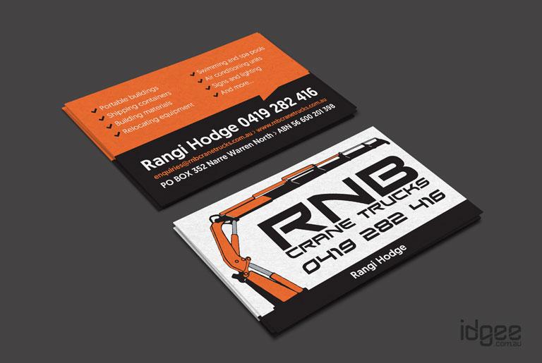 Website design melbourne business card design rnb crane trucks narre warren business card design colourmoves