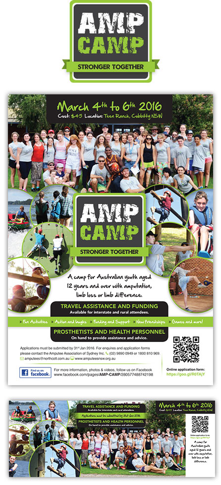 Flyer Design for Amp Camp 2016 Narre Warren Melbourne