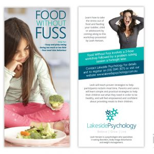 Food-Without-Fuss-Flyer-For-Lakeside-Psychology-Pakenham